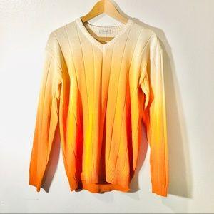 Orange gradient sweater